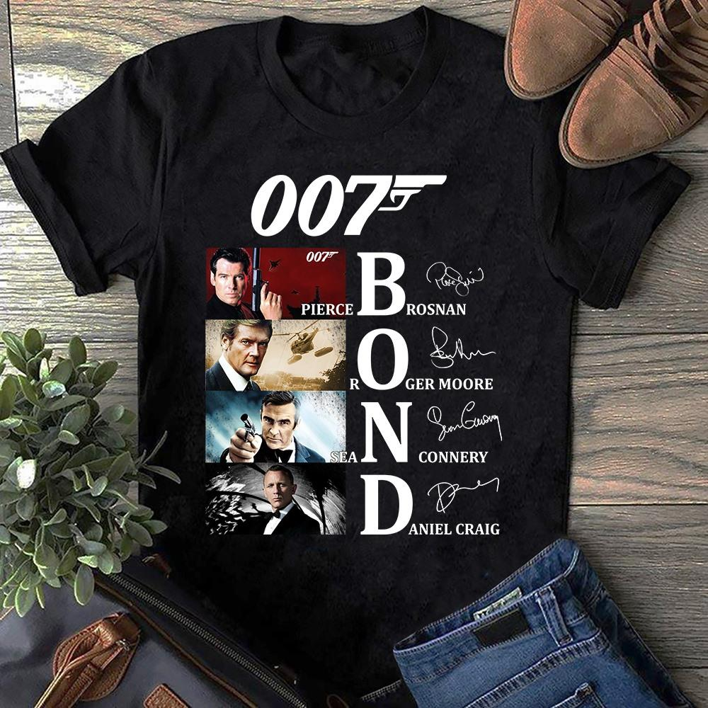 007 Bond Characters And Signatures Shirt