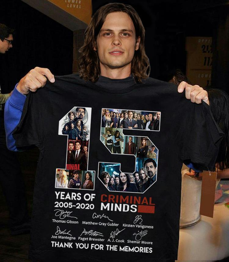 15 Years Of Criminal Minds 2005 - 2020 And Members Signature Shirt