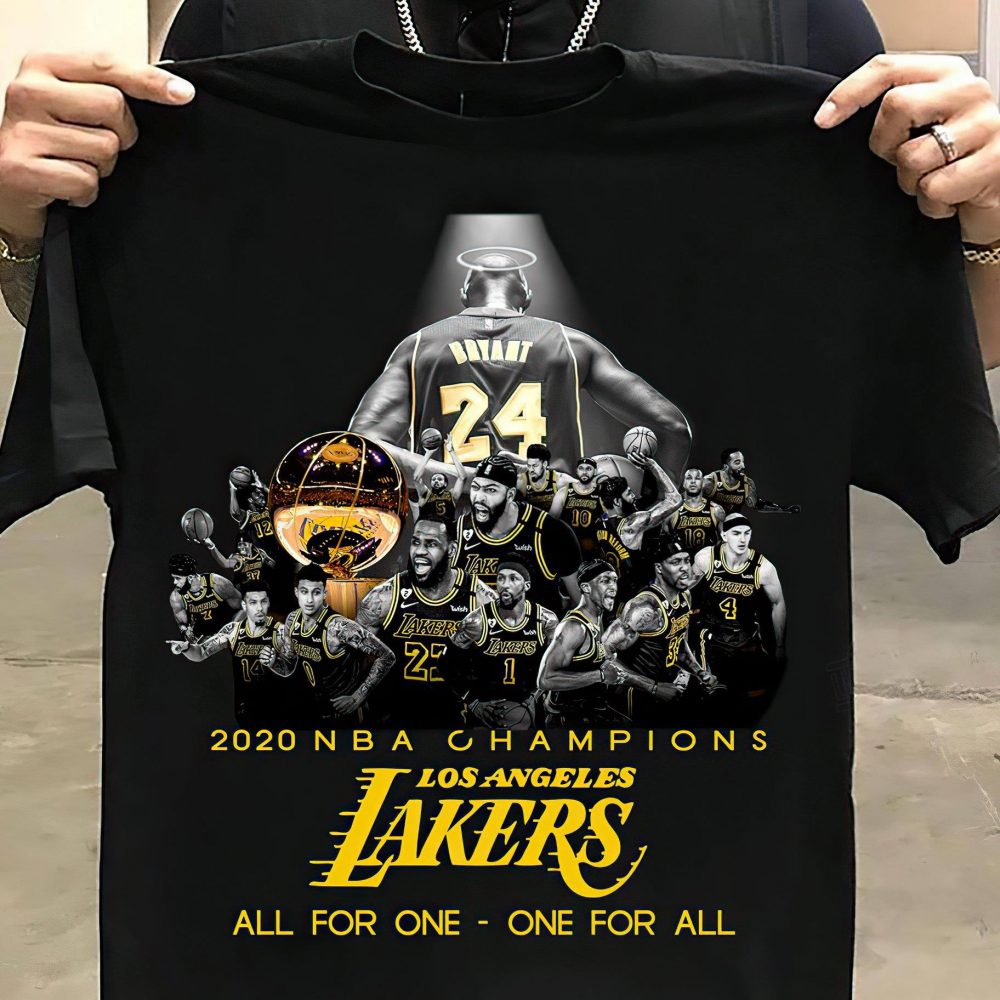 2020 NBA Champions Losangeles Lakers All For One Shirt