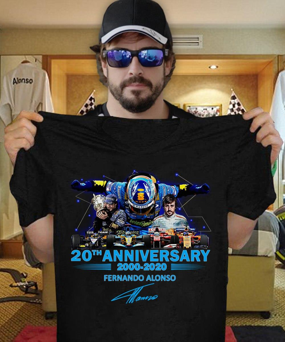 20th Anniversary 2000 - 2020 Fernando Alonso Signature Shirt