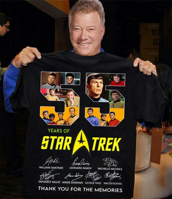 55 Years Of Star Trek Members Signature And Thank You For The Memories Shirt