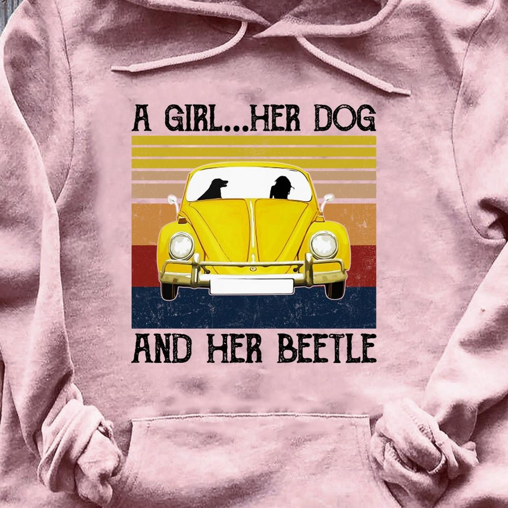 A Girl Her Dog And Her Beetle Shirt