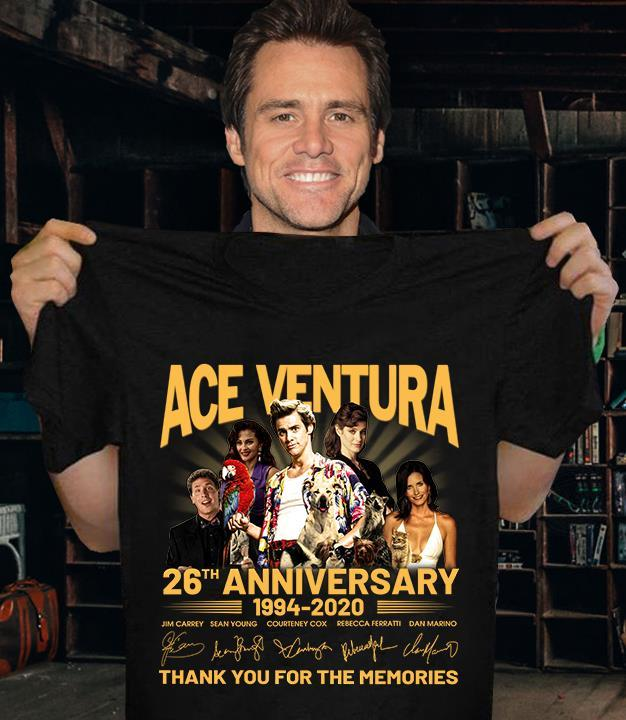 ACE VENTURA 26th Anniversary 1994 - 2020 Members Signature And Thank You For The Memories Shirt