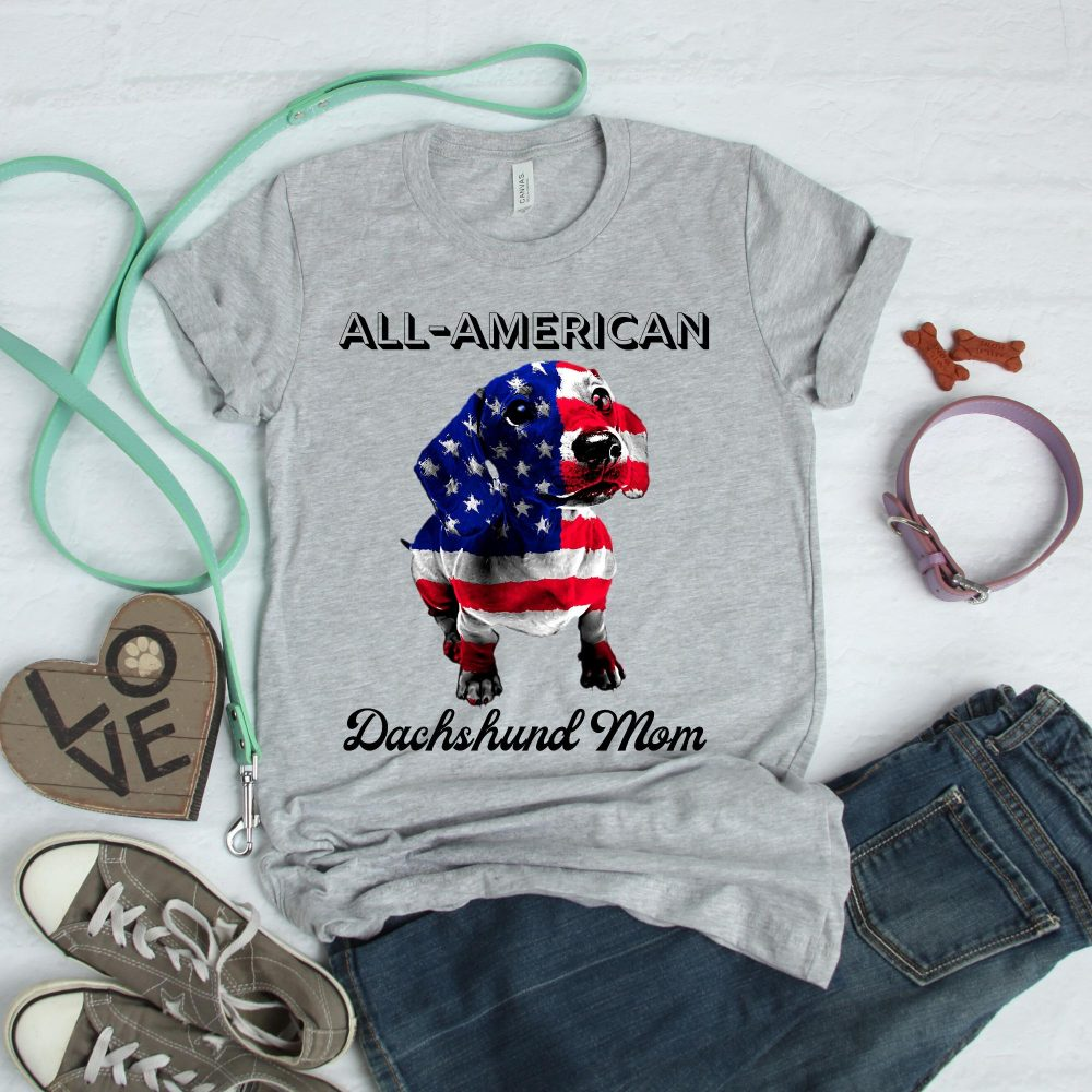 All American Dachshund Mom Shirt