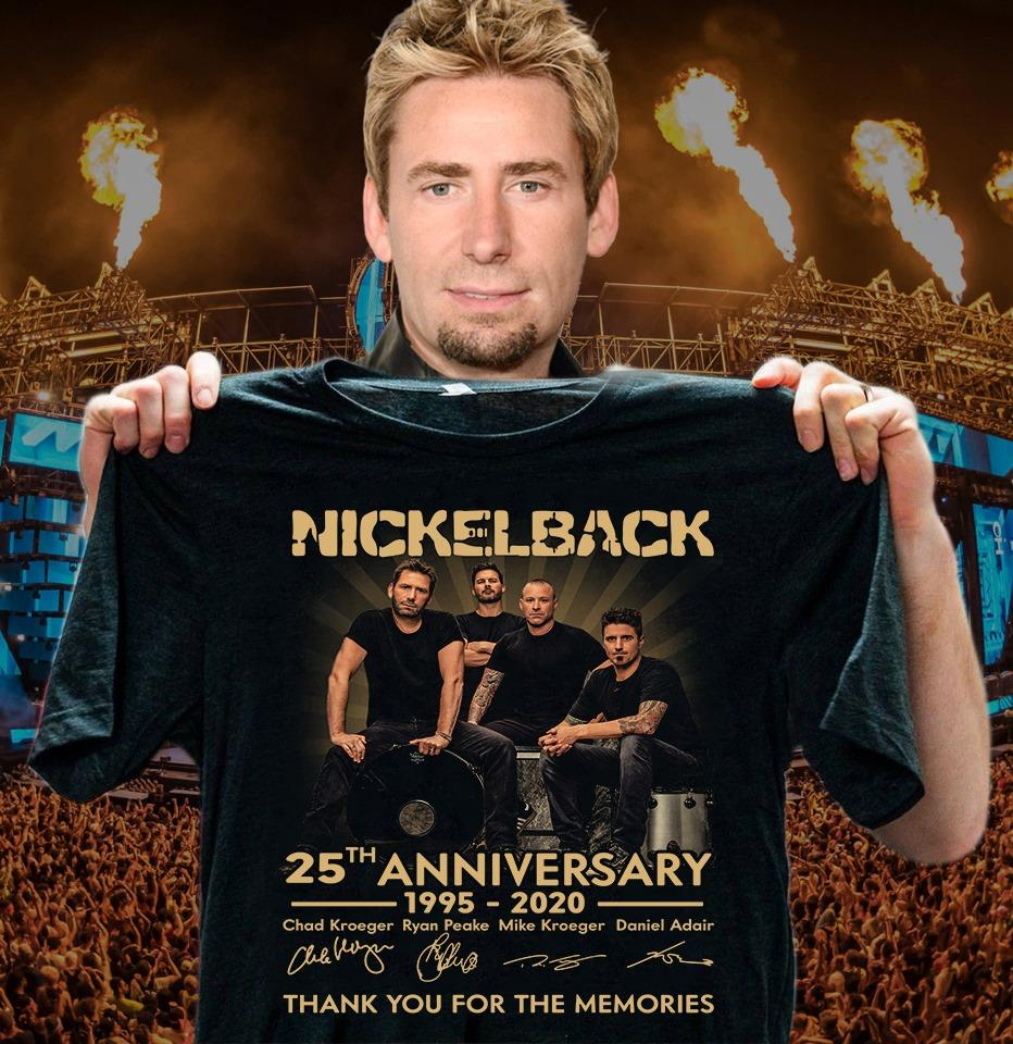 Anniversary Thank You For The Memories Nickelback And Signature Shirt