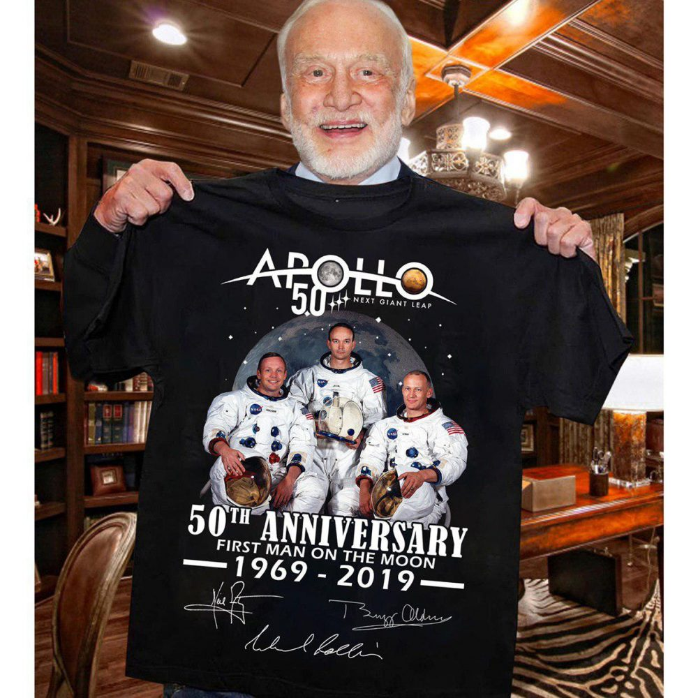 Apollo 50th Anniversary First Man On The Moon 1969 - 2019 And Signature Shirt