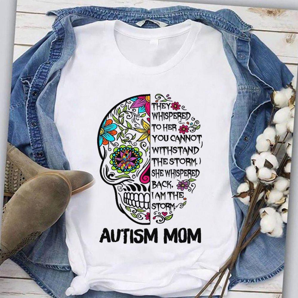 Autism Mom Skull Shirt