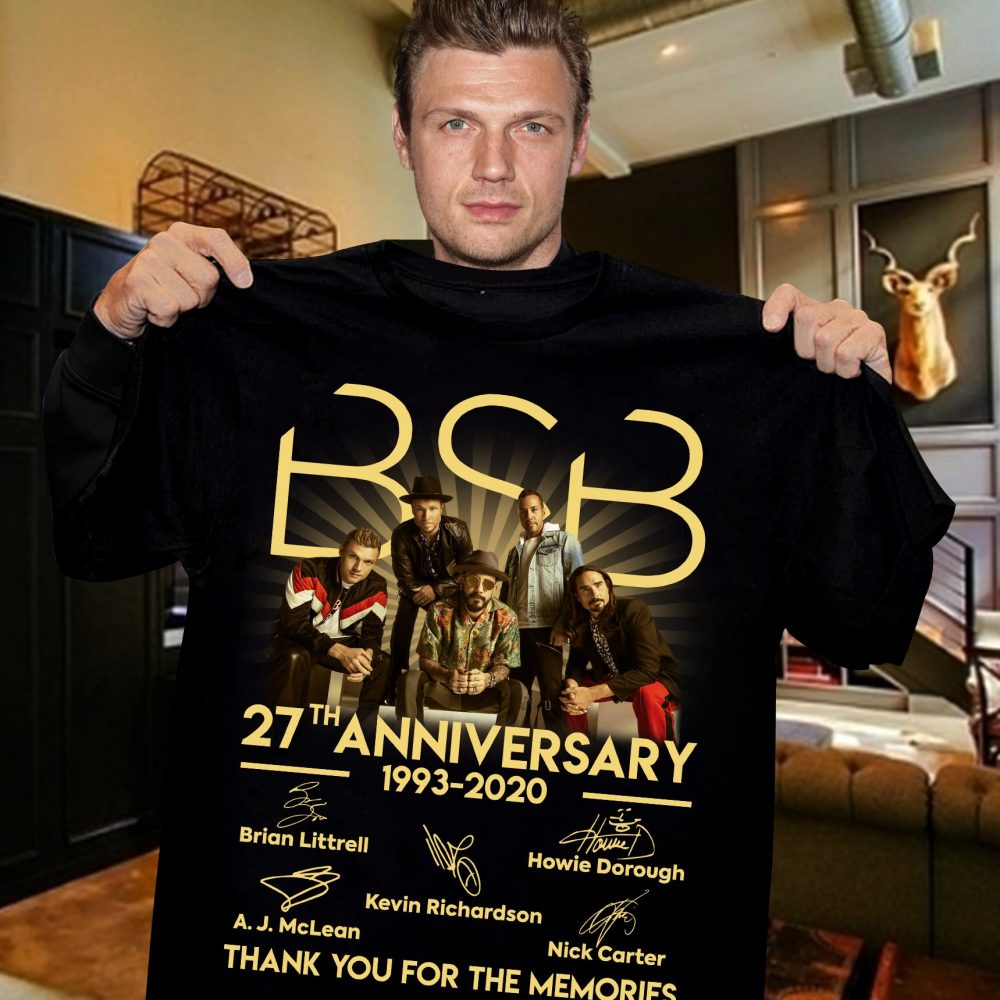 BSB 27th Anniversary 1993 - 2020 Members Signature And Thank You For The Memories Shirt