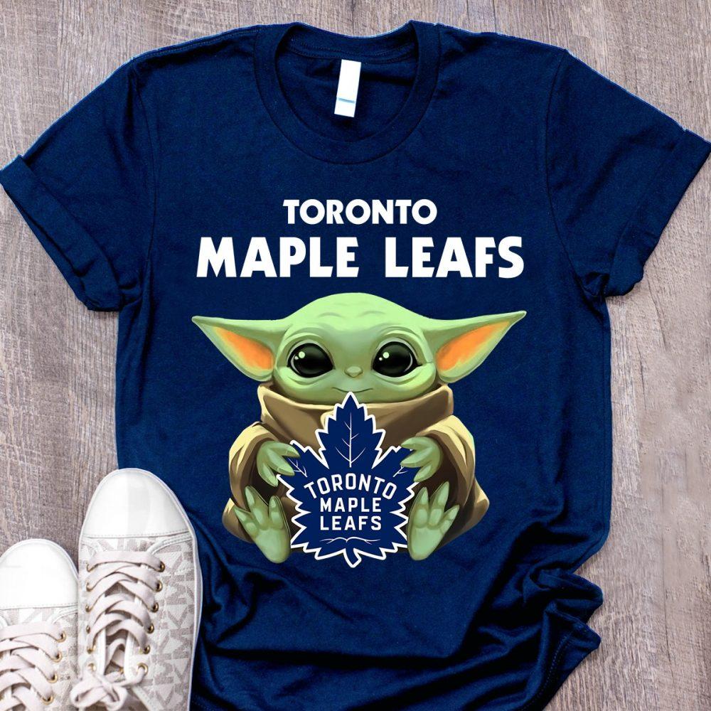 Baby Yoda Toronto Maple Leafs Shirt