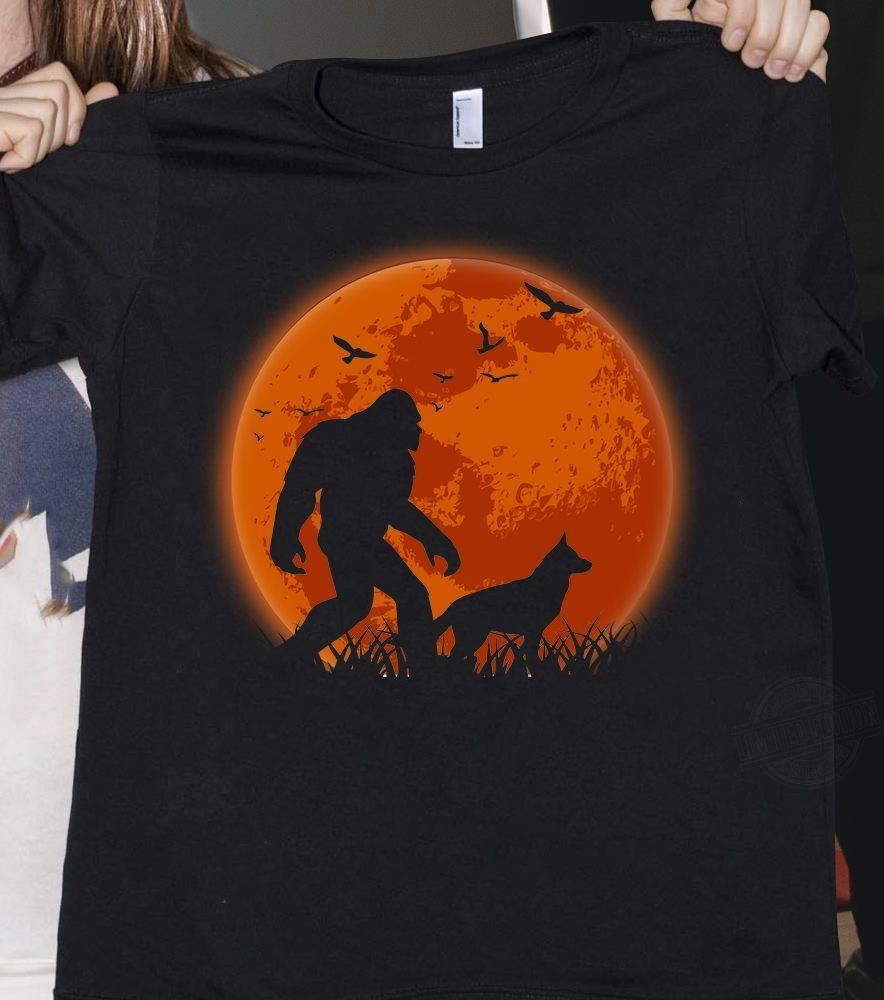 Big Foot A Wolf And Moon Shirt