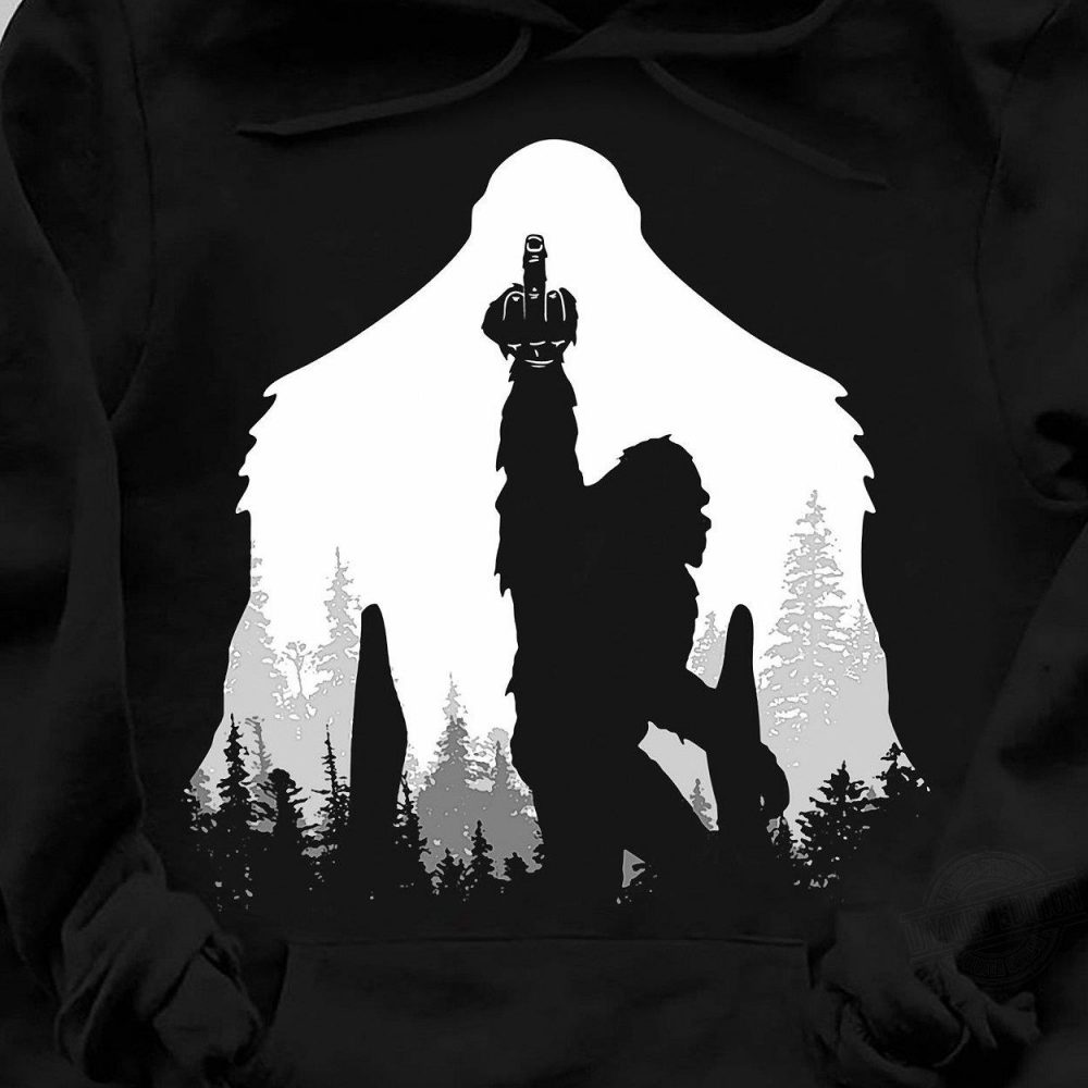 Bigfoot Middle Finger In The Forest Shirt