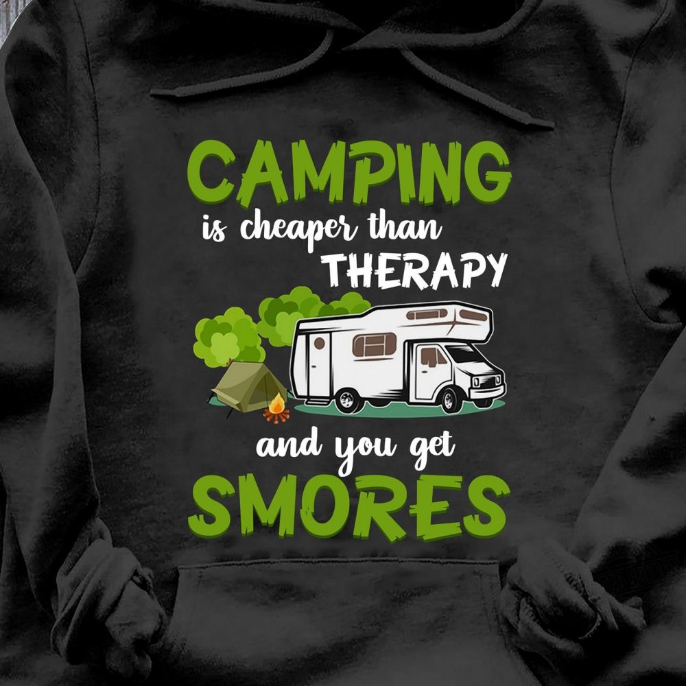 Camping Is Cheaper Than Therapy Shirt