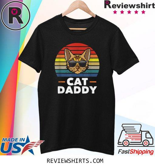 Cat Daddy Vintage Bengal Cat Style Distressed Retro Shirt
