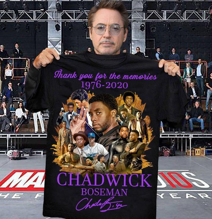 Chadwick Boseman Signature And Thank You For The Memories Shirt