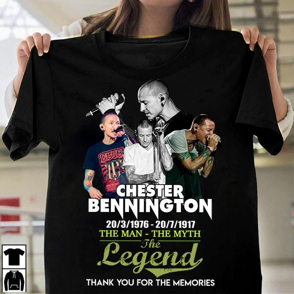 Chester Bennington The Man The My The Legend And Thank You For The Memories Shirt