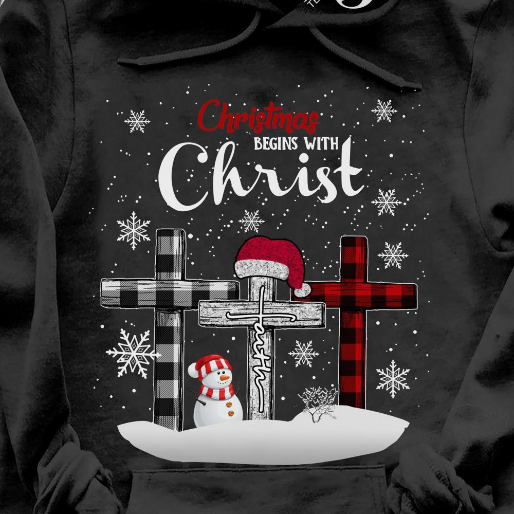 Christmas Begin With Christ Shirt