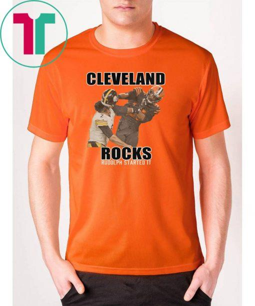 Cleveland Rocks Rudolph Started It Shirt