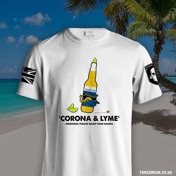 Corona And Lyme Warning Please Wash Your Hands Shirt