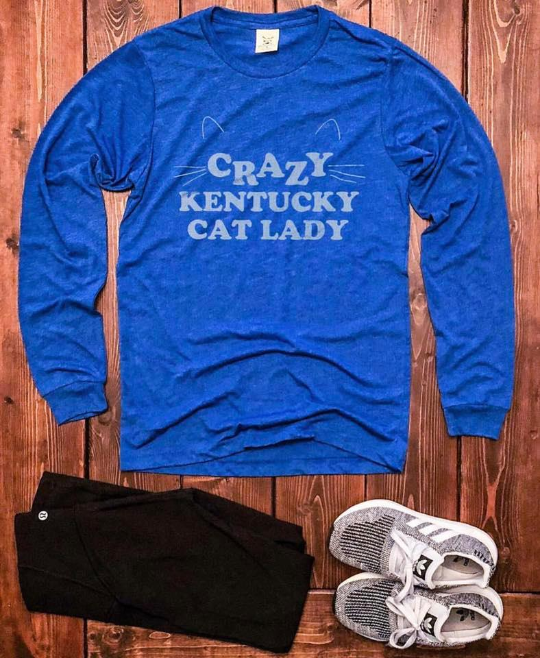 Crazy Kentucky Cat Lady Shirt
