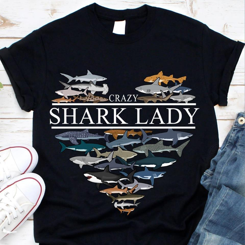 Crazy Shark Lady Shirt