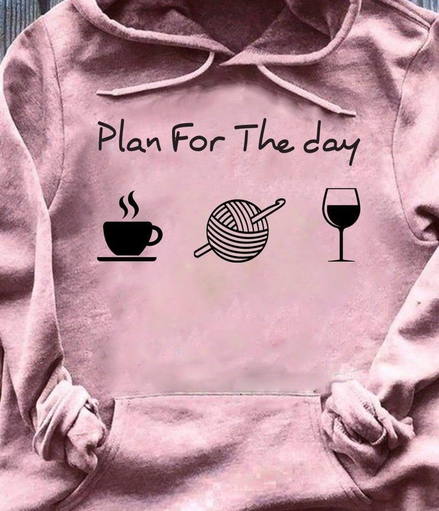 Crochet Coffee Wine Shirt