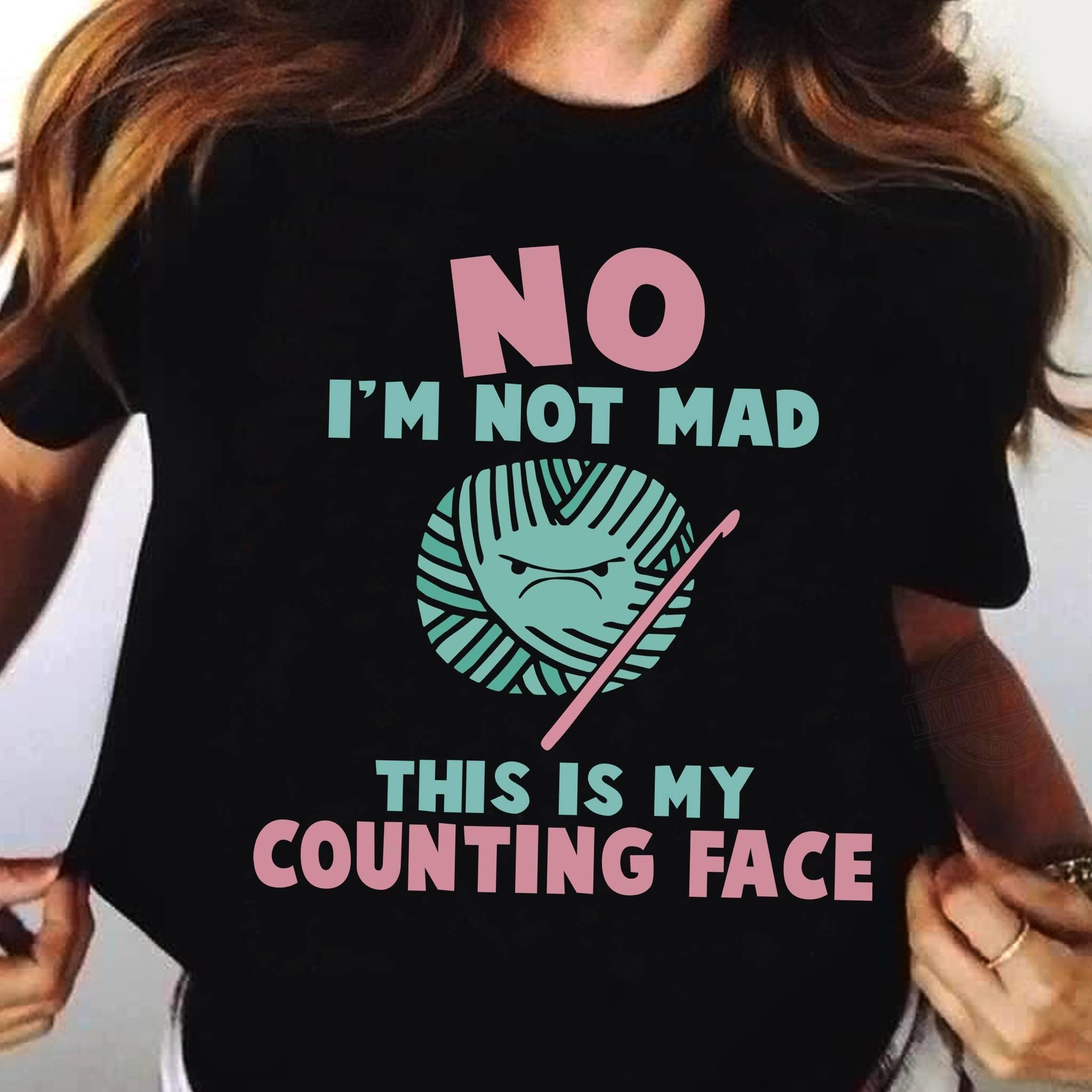 Crochet Counting Face Shirt