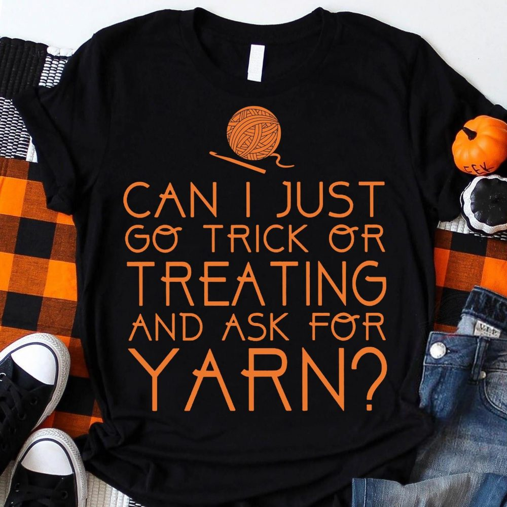 Crochet Halloween Treating Yarn Shirt
