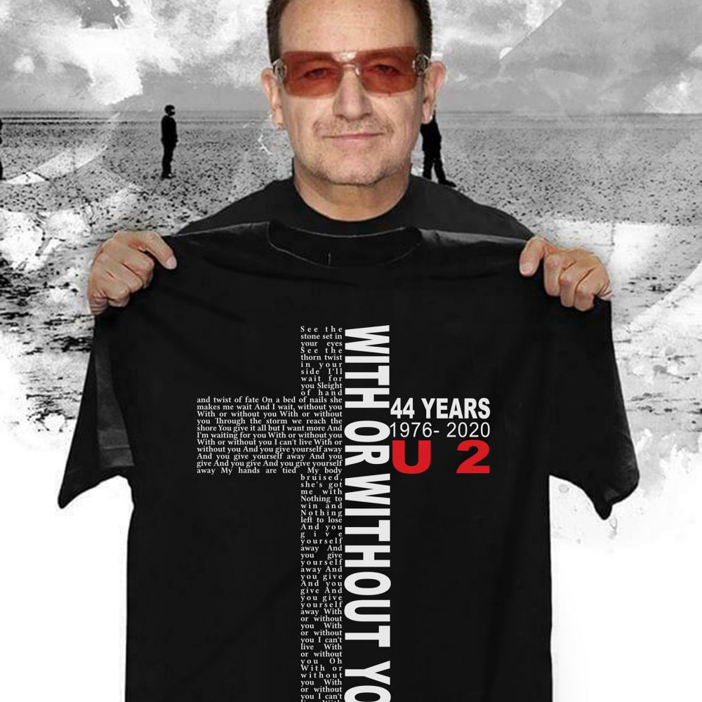 Cross With Or Without You 44 Years Men T-Shirt