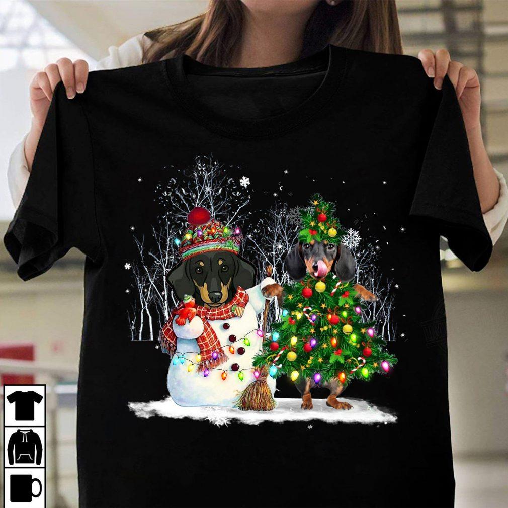 Dachshund Merry Christmas Shirt