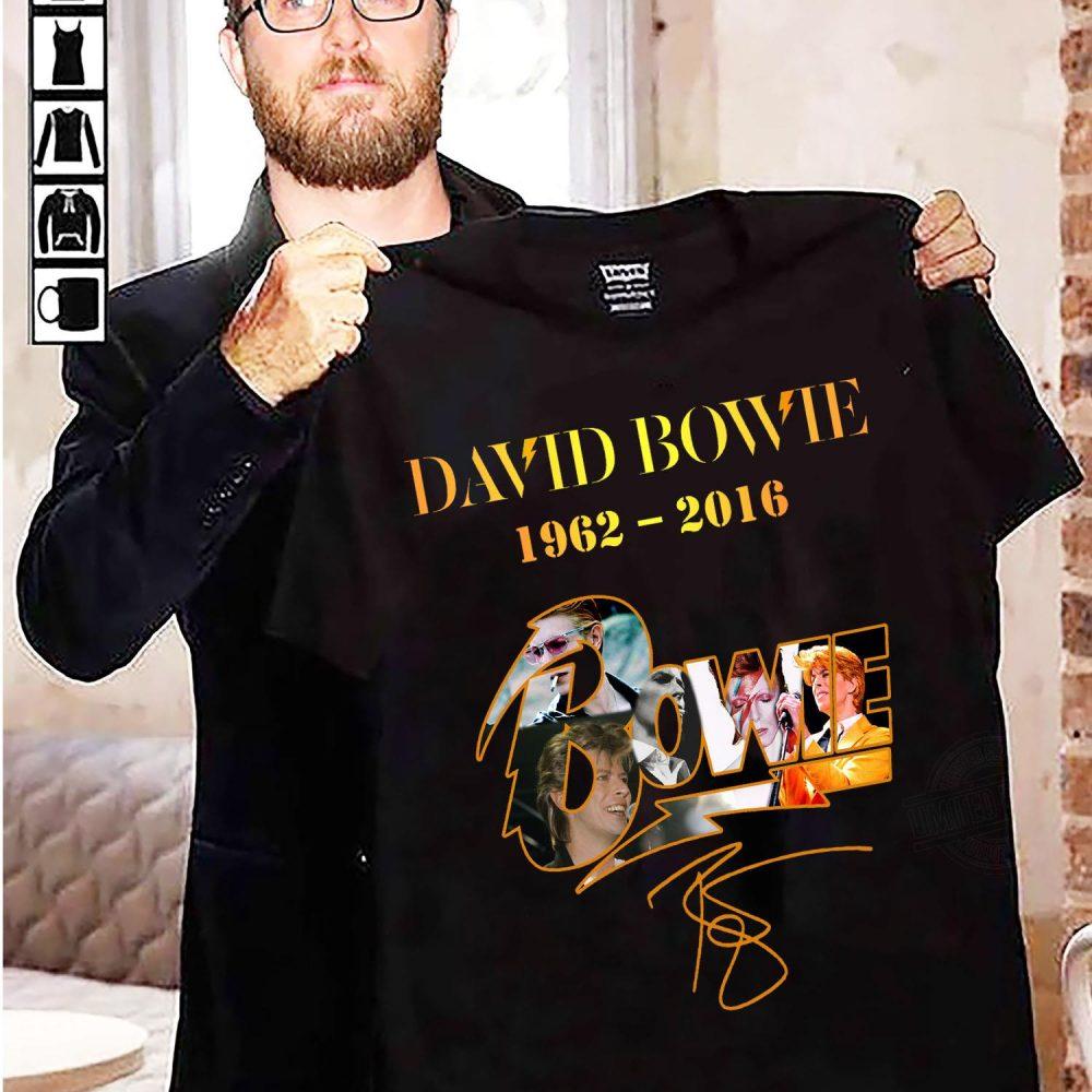 David Bowie 1962 - 2016 And Signatures Shirt