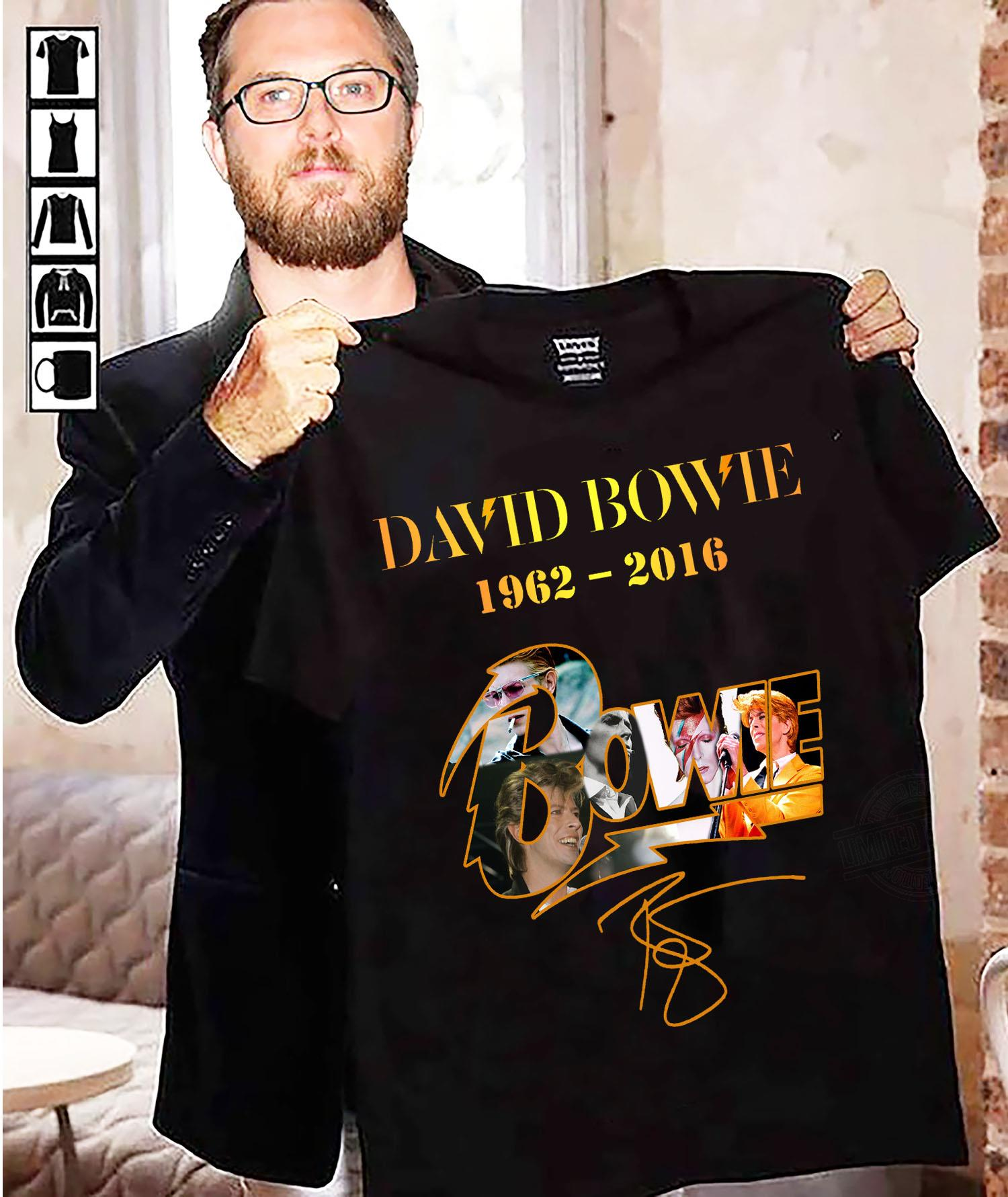 David Bowie 1962 - 2016 And Signatures Shirt