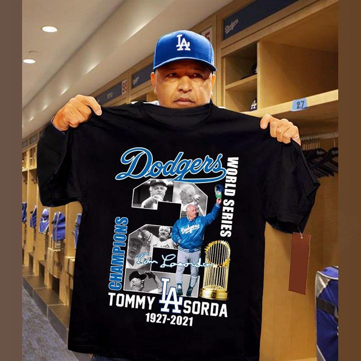 Dodgers Champions Tommy Sorda Shirt