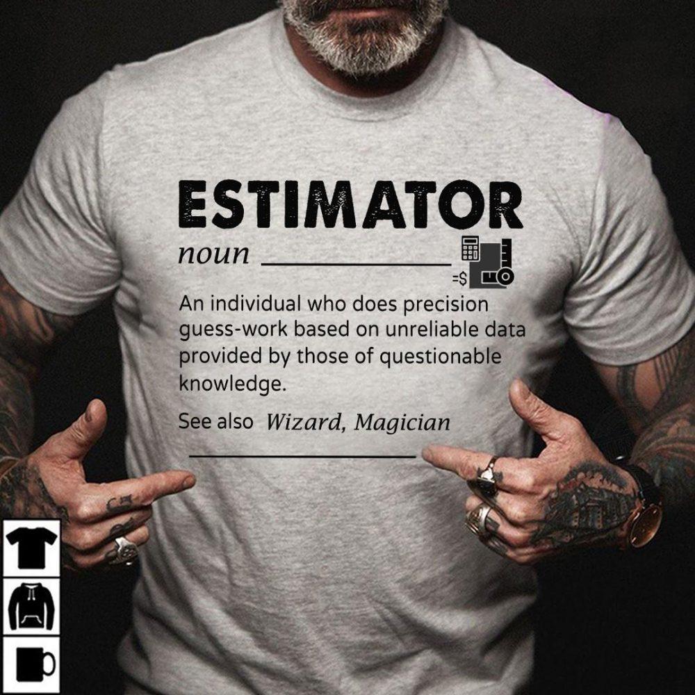 Estimator An Individual See Also Wizard Magician Shirt