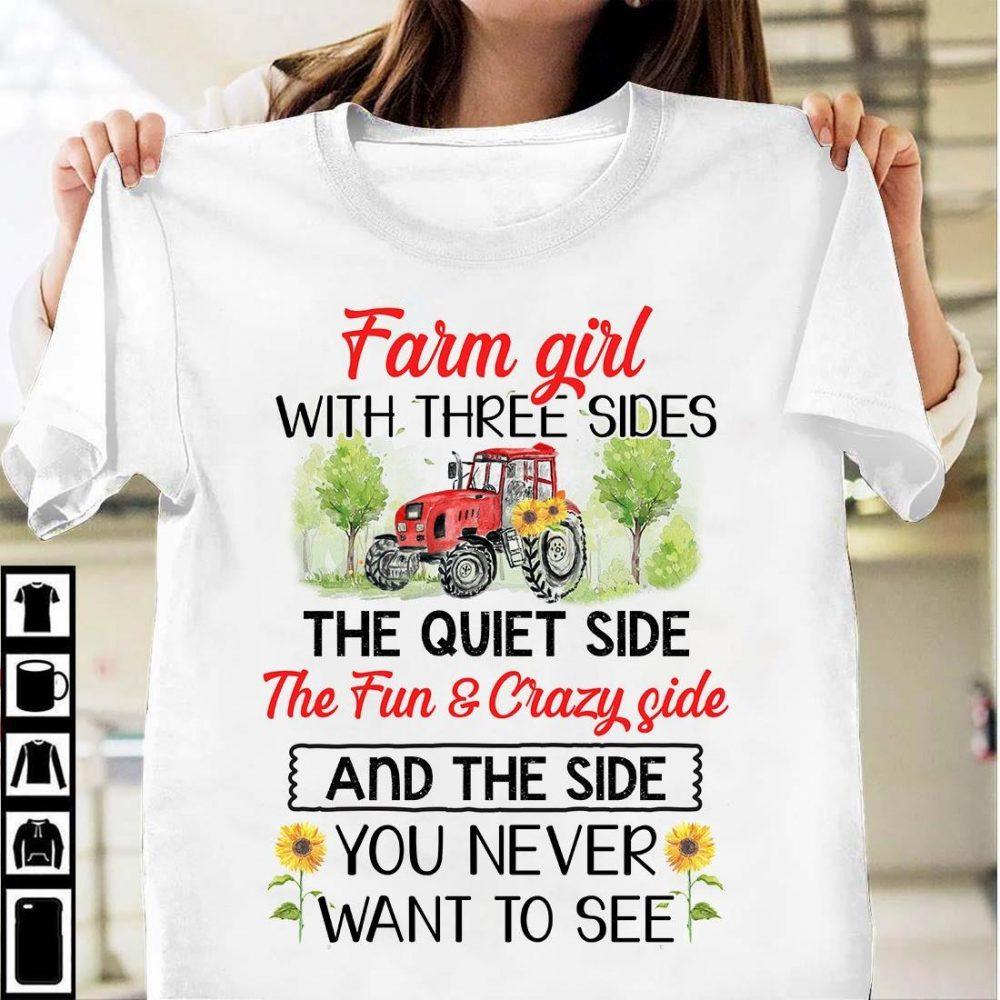 Farm Girl With Three Sides Shirt