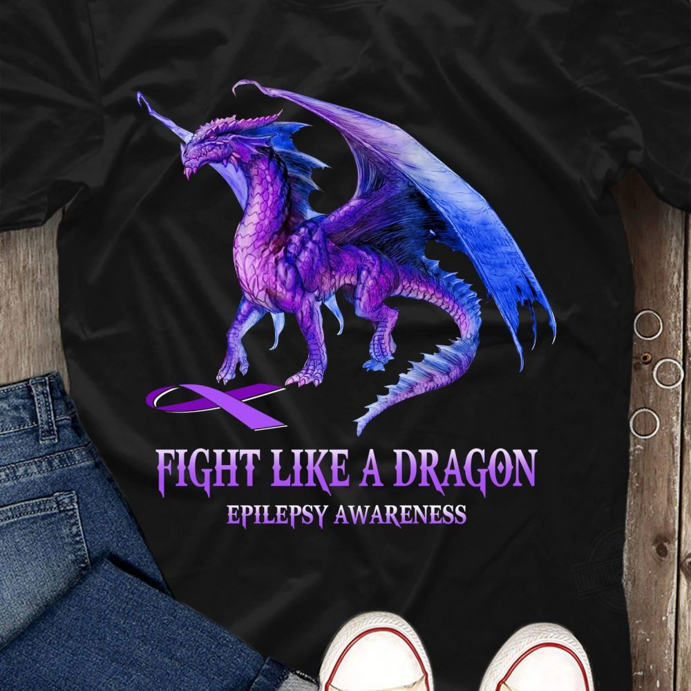 Fight Like A Dragon Epilepsy Awareness Shirt