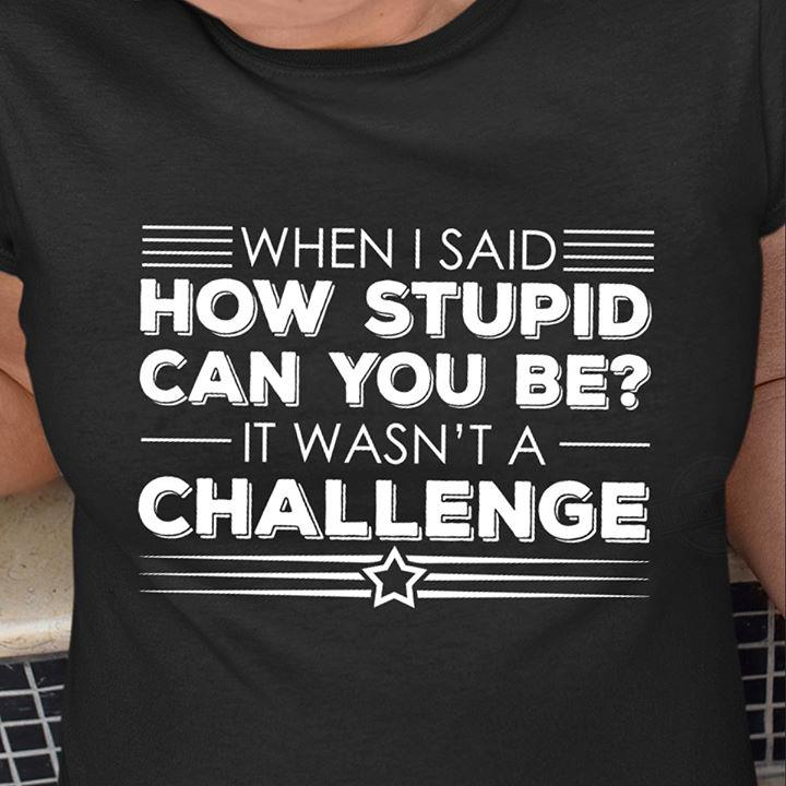 How Stupid Can You Be Shirt