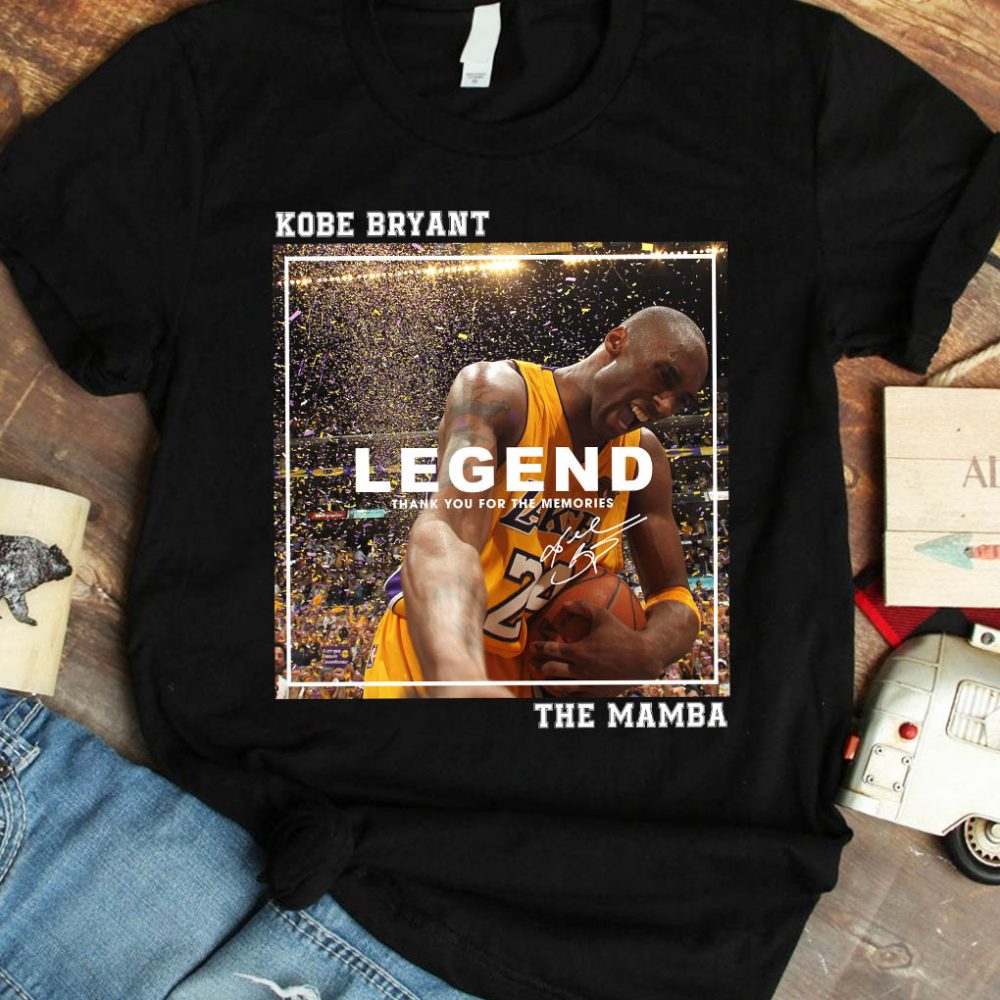 Kobe Bryant Legend Thank You For The Memories The Mamba Shirt