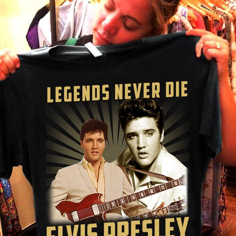 Legends Never Die Elvis Presley 1935 - 1977 And Signature Shirt