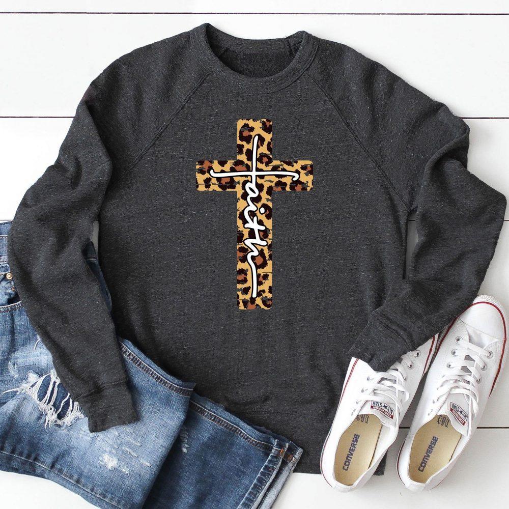 Leopard Faith Cross Shirt