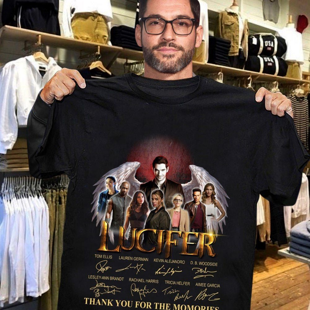 Lucifer Members Signature And Thank You For The Memories Shirt