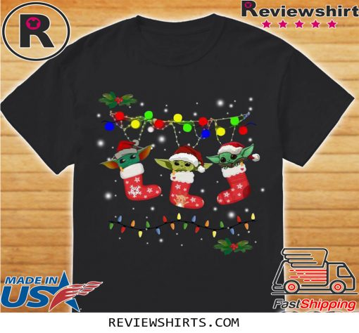 Official Baby Yoda In Stock light christmas Shirt