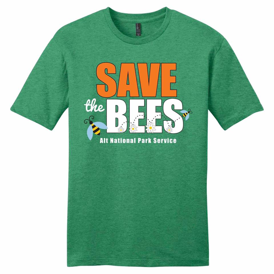 Save The Bees Alt National Park Service Shirt