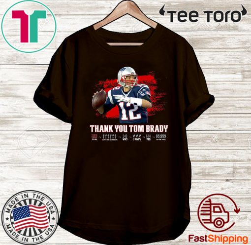 Thank You Tom Brady Patriots 2020 Shirt