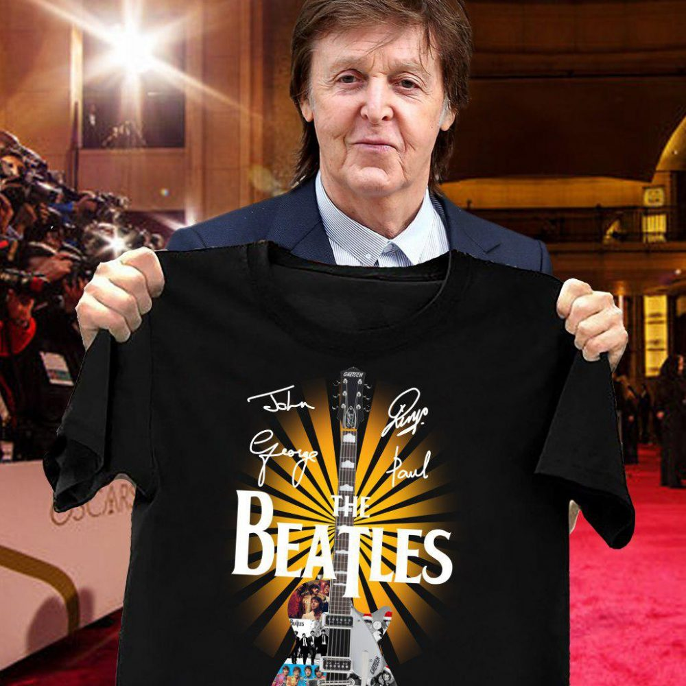 The Beatles The Guitar And The Member Signatures Shirt