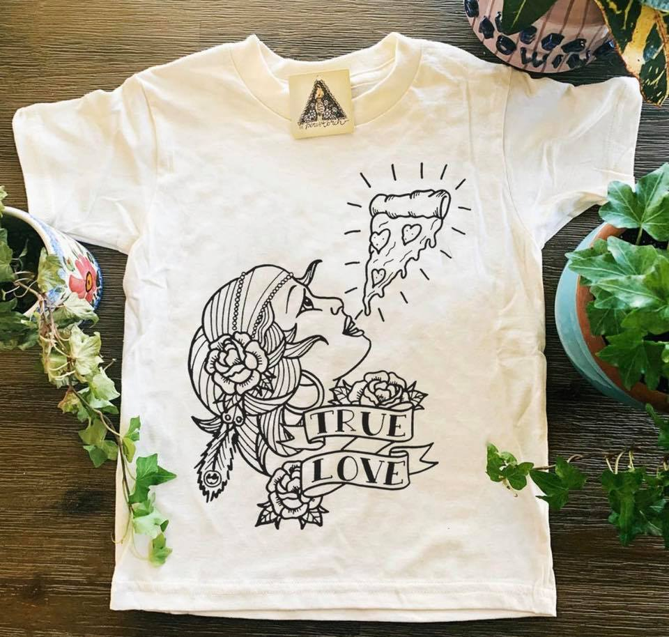 The Girl And The Pizza The True Love Shirt