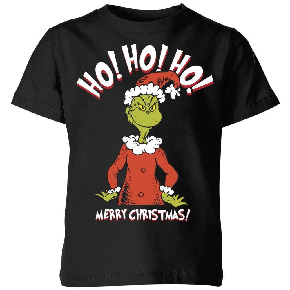 The Grinch Ho Ho Ho Smile Kids Christmas Shirt